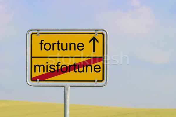 Sign misfortune fortune Stock photo © w20er