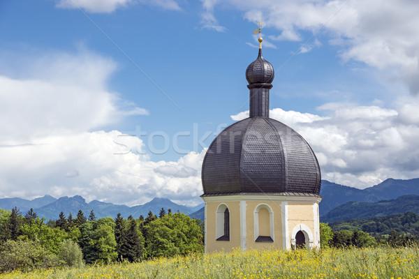 Bedevaart kerk horizontaal afbeelding gras bos Stockfoto © w20er