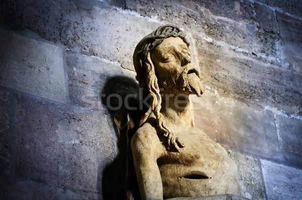 Jesus standbeeld kerk Wenen Oostenrijk stad Stockfoto © w20er