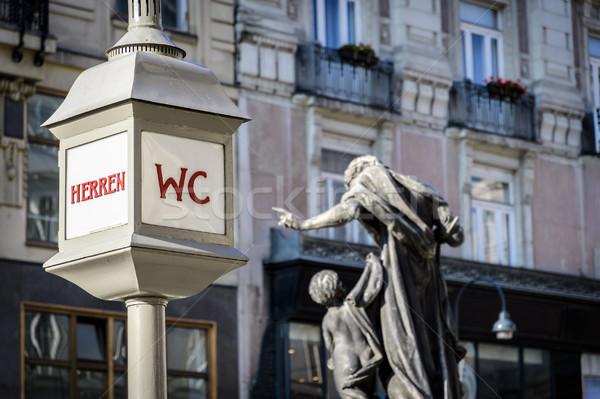 WC podpisania Wiedeń historyczny ulicy Austria Zdjęcia stock © w20er