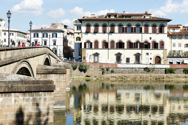 Houses and river Arno Florence Stock photo © w20er