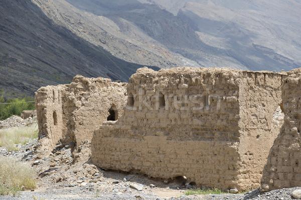 Romok Omán kép történelmi város Közel-Kelet Stock fotó © w20er