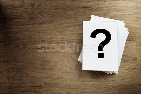 Paper card with question mark sign Stock photo © w20er