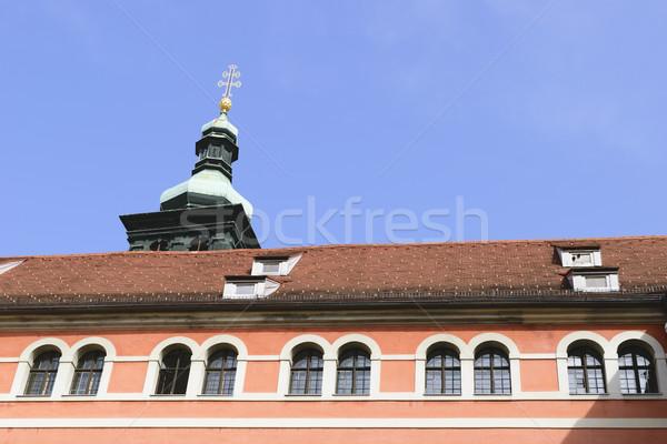 Stock fotó: Történelmi · homlokzat · Graz · kép · piros · város