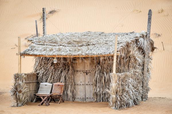 キャビン 砂漠 キャンプ オマーン 風景 砂 ストックフォト © w20er