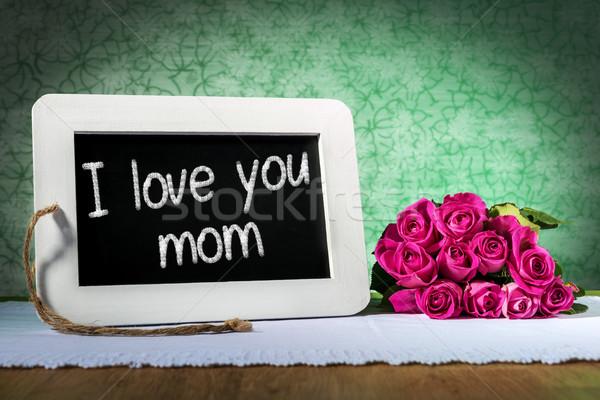slate blackboard mother day Stock photo © w20er