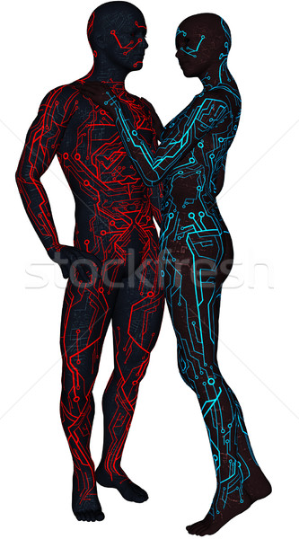 Pair of sci-fi android Stock photo © Wampa