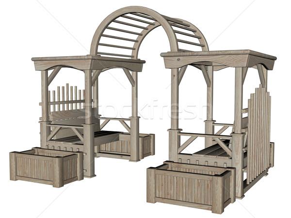 3D rendered garden furniture Stock photo © Wampa