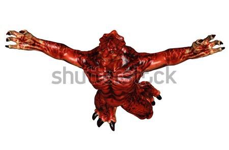 Fantasia grande monstro 3D prestados criatura Foto stock © Wampa