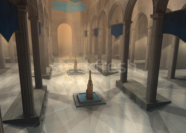 Ouvir 3D prestados antigo fantasia Foto stock © Wampa