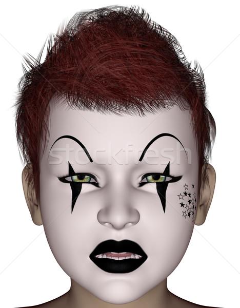 Halloween cara m scara 3d prestados pintura for Pinturas de cara para halloween