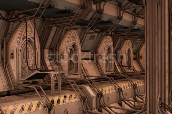Scifi пространстве док станция 3D оказанный Сток-фото © Wampa