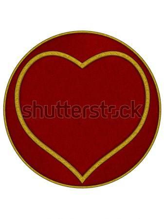 Coração dia dos namorados 3D prestados branco isolado Foto stock © Wampa