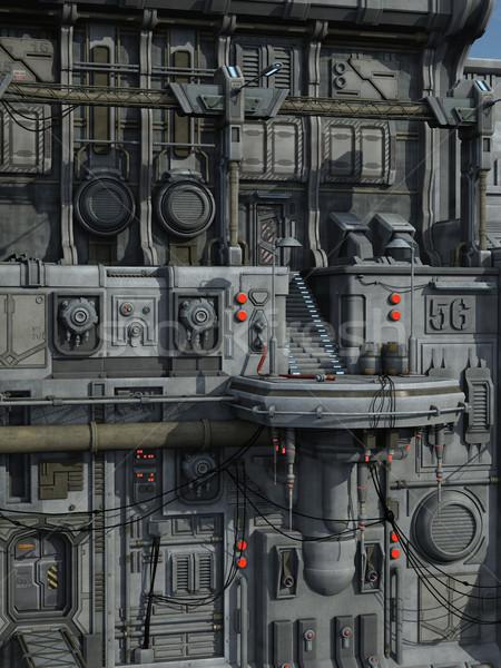 Scifi промышленных города 3D оказанный сцена Сток-фото © Wampa