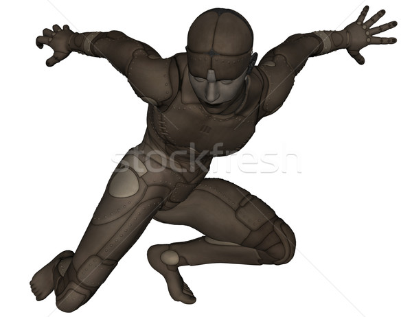 Tytan człowiek 3D świadczonych scifi biały Zdjęcia stock © Wampa