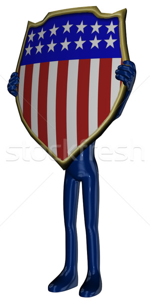 Michael with USA sign Stock photo © Wampa
