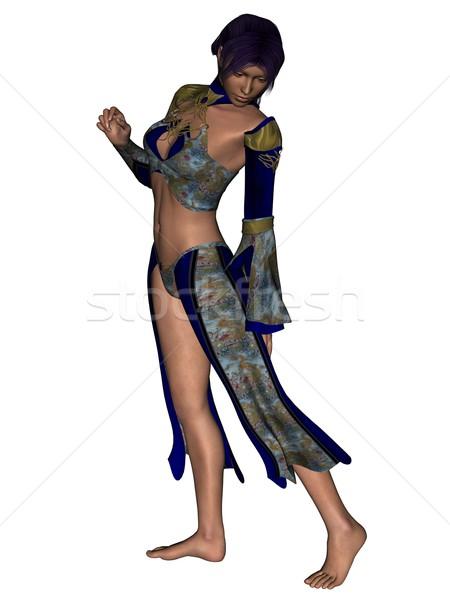 Moda modelo pose 3D prestados extravagante Foto stock © Wampa