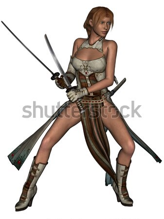 Sensual senhora 3D prestados branco isolado Foto stock © Wampa