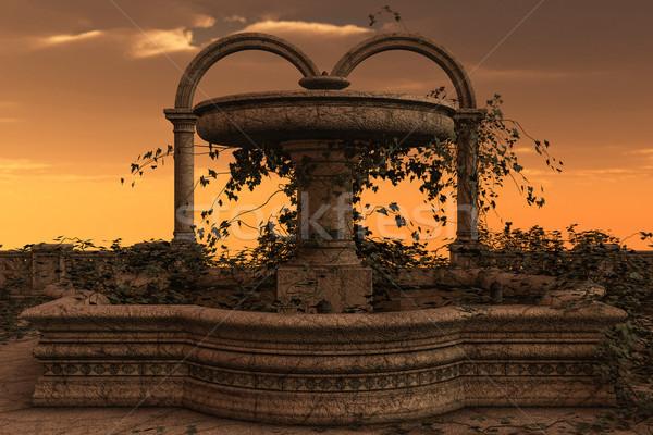 Fantasia fonte 3D prestados ilustração antigo Foto stock © Wampa