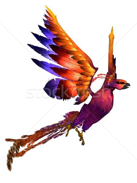フェニックス 3D レンダリング ファンタジー 鳥 白 ストックフォト © Wampa