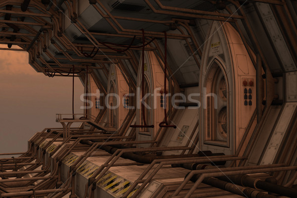 Sci-fi space dock station Stock photo © Wampa