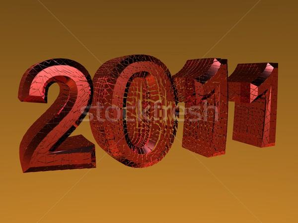 3D reso 2011 capodanno logo colore Foto d'archivio © Wampa