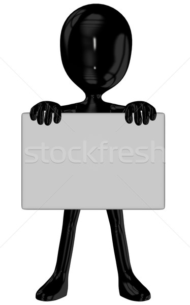 Michael with sign in poses Stock photo © Wampa