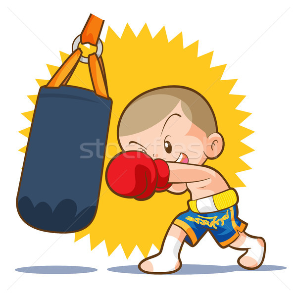 muaythai sandbag boxing hit Stock photo © watcartoon