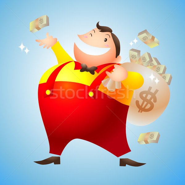 rich man happy Stock photo © watcartoon
