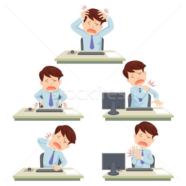 オフィス 症候群 男 作業 表 病気 ストックフォト © watcartoon