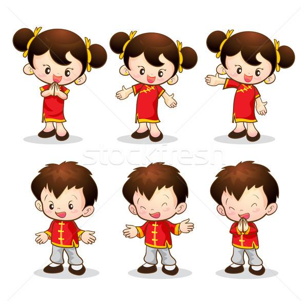 chinese boy girl Stock photo © watcartoon