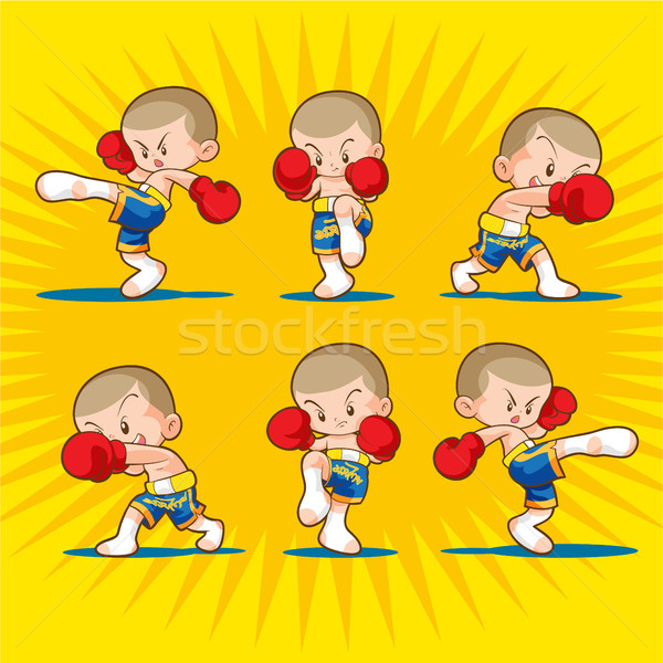 Boxen Kinder kämpfen Stock foto © watcartoon