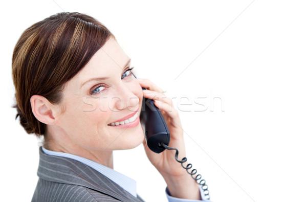 Radiant businesswoman talking on phone  Stock photo © wavebreak_media