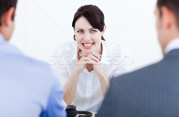 улыбаясь деловые люди служба бизнеса женщины Сток-фото © wavebreak_media
