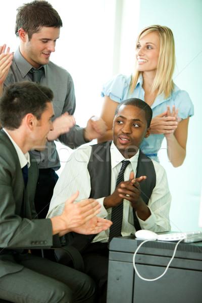国際ビジネス チーム オフィス 一緒に コンピュータ ストックフォト © wavebreak_media