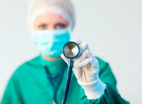 Femminile stetoscopio focus giovani donne Foto d'archivio © wavebreak_media