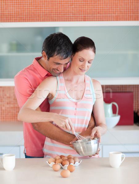 Aantrekkelijk paar koken samen home huis Stockfoto © wavebreak_media