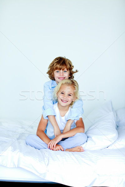 Brother and sister together in bed Stock photo © wavebreak_media