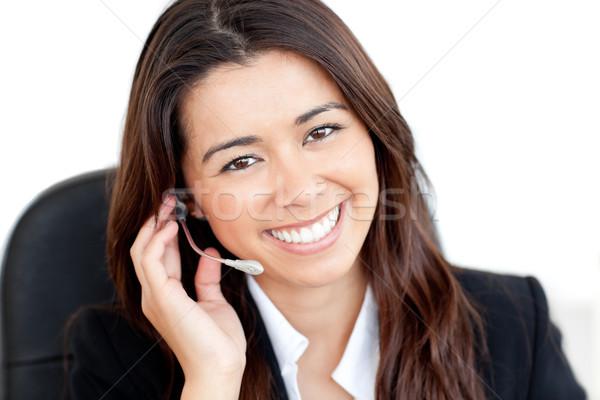 Portret charyzmatyczny asian kobieta interesu słuchawki uśmiechnięty Zdjęcia stock © wavebreak_media