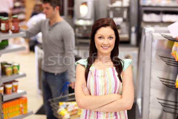 Ritratto sorridere alimentare maschio cliente tutti i giorni Foto d'archivio © wavebreak_media