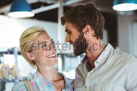 Radosny mężczyzna student uśmiechnięty kamery uczelni Zdjęcia stock © wavebreak_media