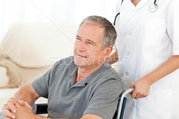 Człowiek wózek pielęgniarki domu kobieta lekarza Zdjęcia stock © wavebreak_media