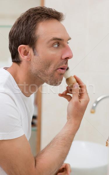 Férfi fürdőszoba arc otthon fiú bőr Stock fotó © wavebreak_media