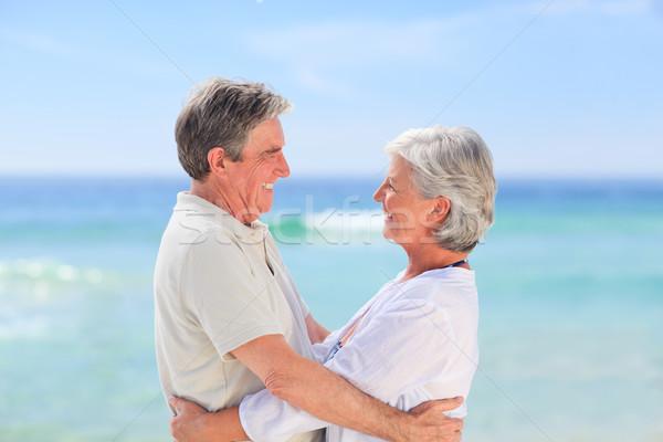 Anziani uomo moglie felice piedi Foto d'archivio © wavebreak_media