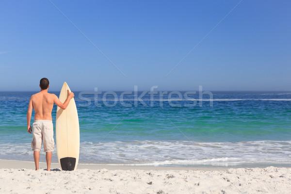 человека доска для серфинга пляж воды спорт природы Сток-фото © wavebreak_media