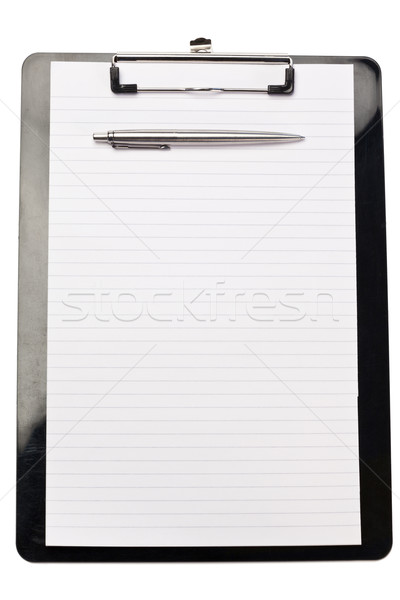 Pen on the top of note pad on a white background Stock photo © wavebreak_media