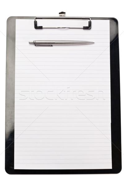 Pluma superior nota blanco libro diseno Foto stock © wavebreak_media