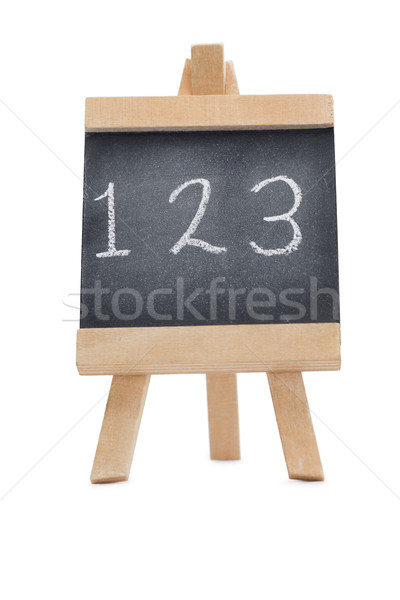 Chalkboard with the figures 123 written on it isolated against a white background Stock photo © wavebreak_media