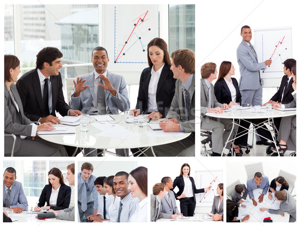 Collage of business people in different situations Stock photo © wavebreak_media