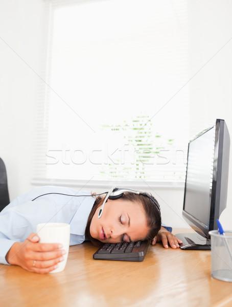 Sekretarz zestawu kubek kawy biuro tabeli Zdjęcia stock © wavebreak_media